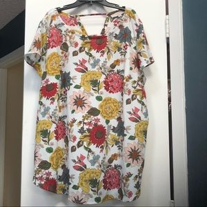 Loft Floral Top with Ladderback